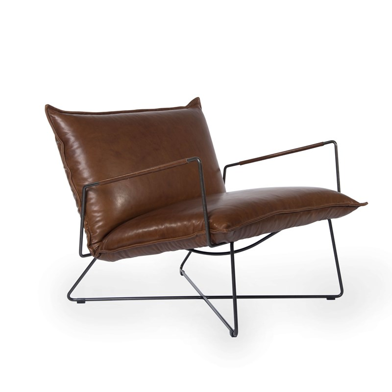 Earl Armchair With Arm Luxor Fango Oblique