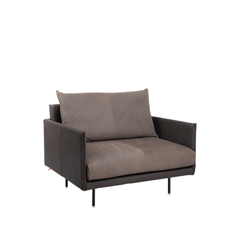 Jazz 1 Seat With Arm, Bonanza Grey Aurula Stone Pers Kopiëren