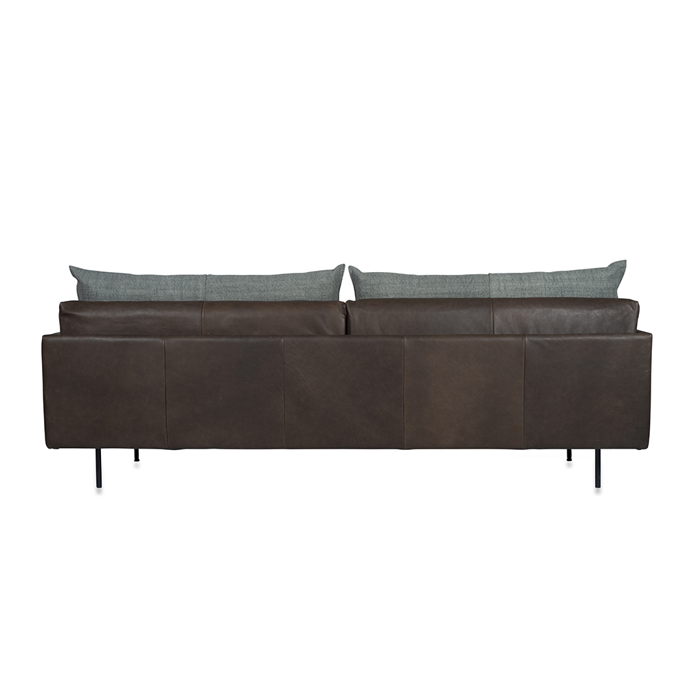 Jazz Sofa With Arm, Bonanza Grey Aurula Stone Back