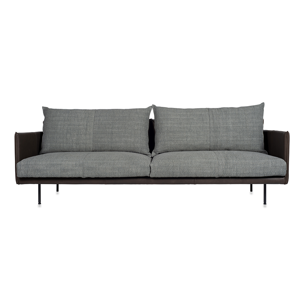 Jazz Sofa With Arm, Bonanza Grey Aurula Stone Front