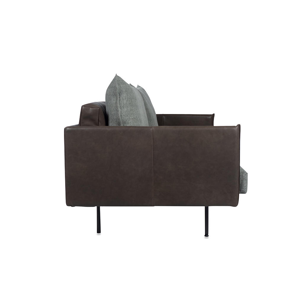 Jazz Sofa With Arm, Bonanza Grey Aurula Stone Side