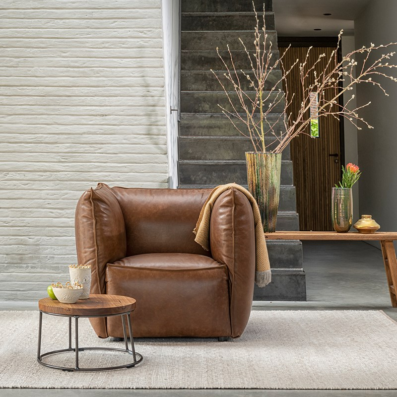 Vasa Armchair High Arm Luxor Fango LR
