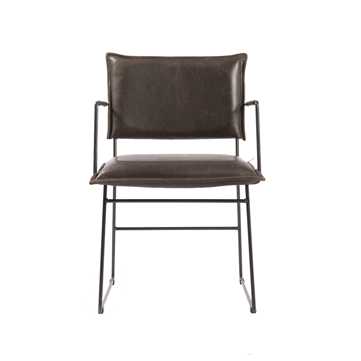 Norman Diningchair Arm Luxor Grey Front